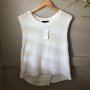NWT-Banana Republic- high low sleeveless sweater.